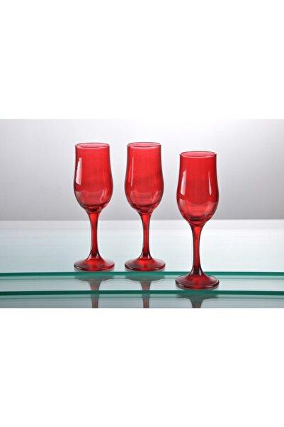 SIGMA GLASS Kırmızı Koleksiyon Ayaklı 6 Lı Bardak Takımı