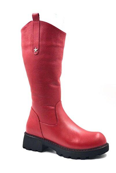Şas By Kepçe Kadın Kırmızı  Çizme
