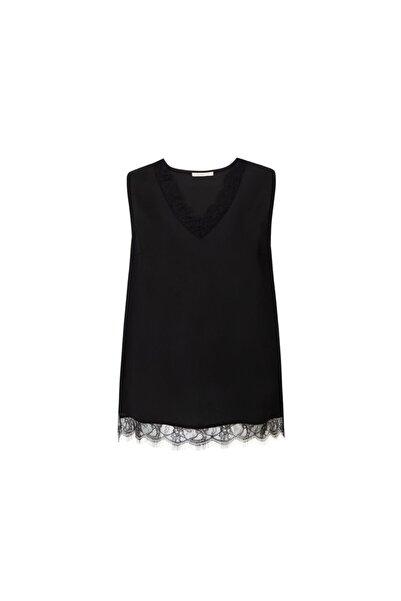 Tchibo Siyah Dantelli Bluz 114115