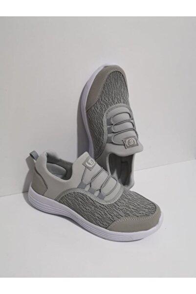 GEZER Ortopedik Aqua Ipli Lastikli Günlük Kadın Spor Ayakkabı Sneaker Fileli Buz 108