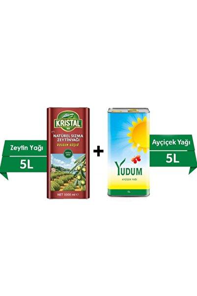 Kristal 5 L Sızma Zeytin Yağı + Yudum 5 L Ayçiçek Yağı 2'li Fırsat Paketi