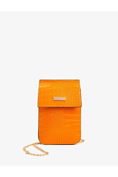 Koton Kadın Sarı Desenli Omuz Çantası