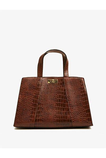 Koton Kadın Kahverengi Desenli Çanta