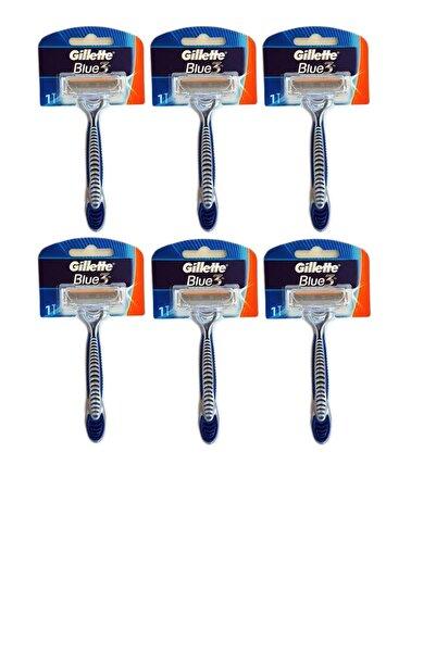 Gillette Blue 3 Traş Bıçağı (3 Bıçaklı Jilet ) (6 Adet )