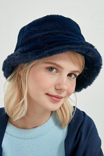 Y-London Unisex Lacivert Bucket Şapka