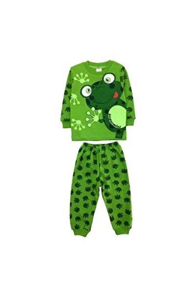 bebegen Yeşil Kurbağa Baskılı 2'li Erkek Pijama Takım