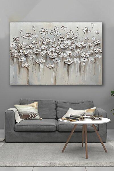 Hediyeler Kapında 100x140 Soğuk Çiçekler Kanvas Tablo