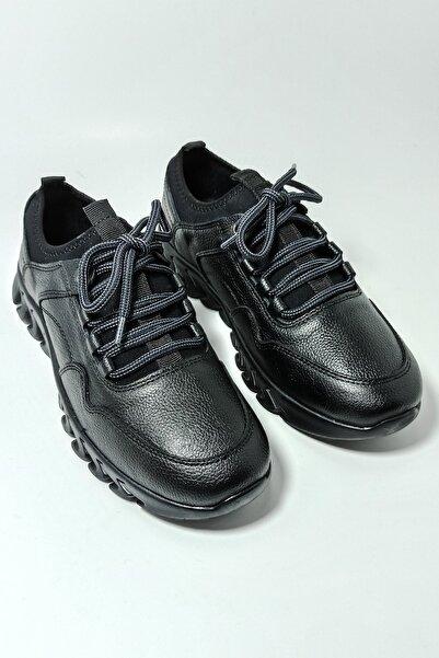 Master Erkek Siyah Manfredo Günlük Kışlık Deri Comfort Ayakkabı