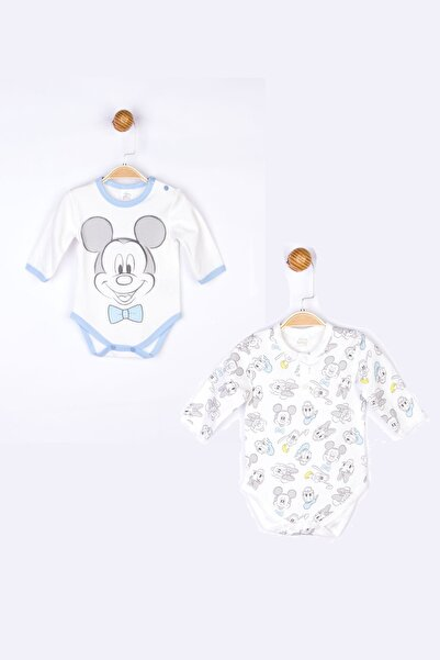 Mickey Mouse Mickey 2'li Uzun Kol Body 17706