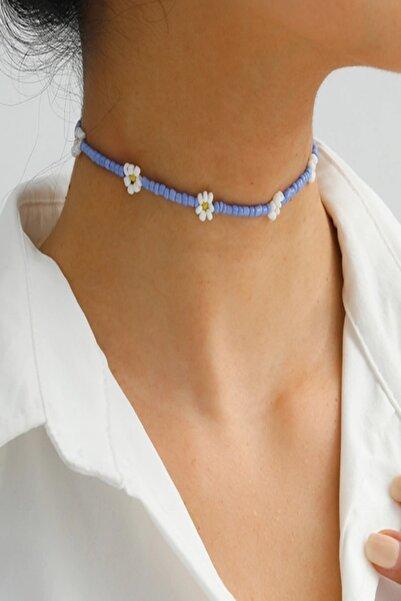 İsabella Accessories Kadın Papatya Boncuk Choker Kolye 35 Cm