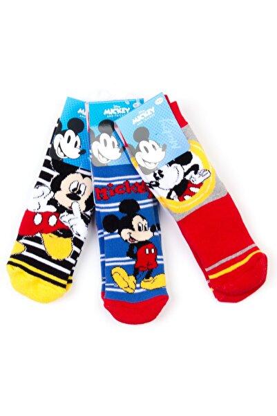 Mickey Mouse Disney 6'lı Kaydırmaz Çocuk Çorap 17064
