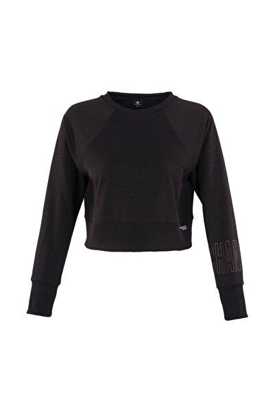 lumberjack As00499005 0w Marta Sleeve Detail Sweatshirt Kadın Sweat Siyah