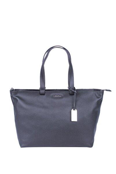 Calvin Klein Kadın Eo/ Pebble Leather Tote Kadın Omuz Çantası Zw0zw00328