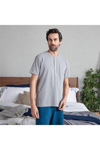 Chakra Hames Erkek T-Shirt Gri