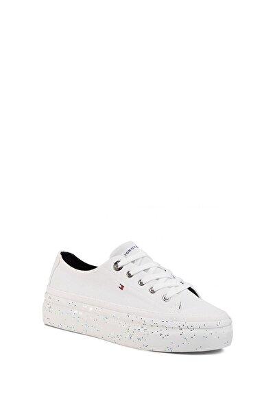 Tommy Hilfiger Kadın Glitter Flatform Sneaker Kadın Ayakkabı Fw0fw04693