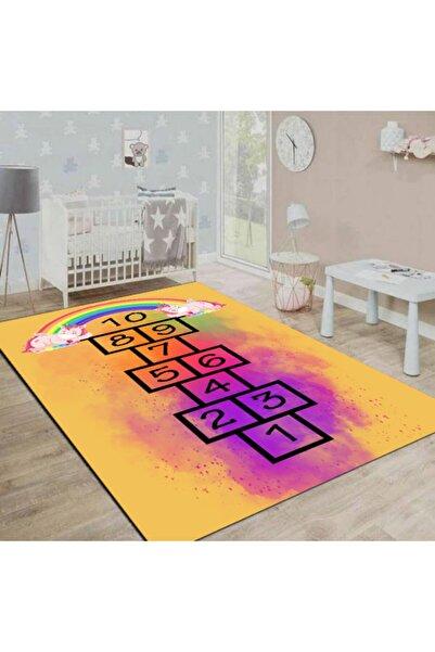 alcahome Renkli Seksek Desenli Modern Çocuk Odası Oyun Halısı