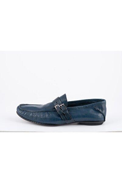 ALBERTO GUARDIANI Erkek Mavi Loafer Ayakkabı