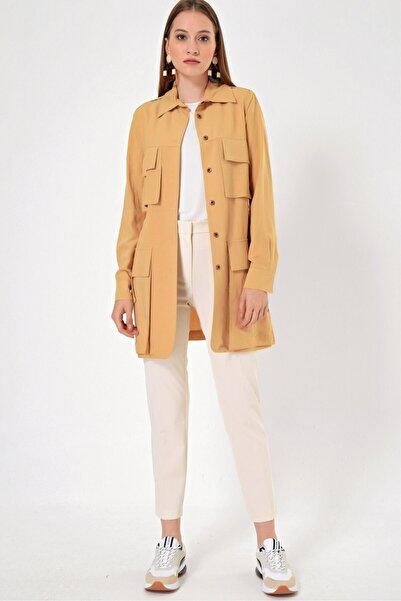 Aker Kadın Bej Ceket