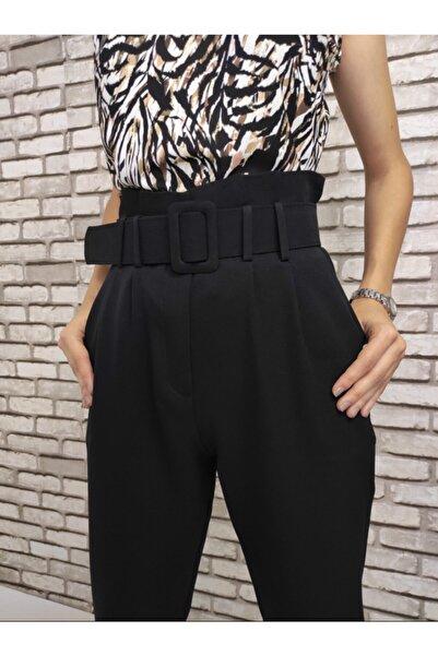 Gizline Kadın Siyah Pileli Pantolon