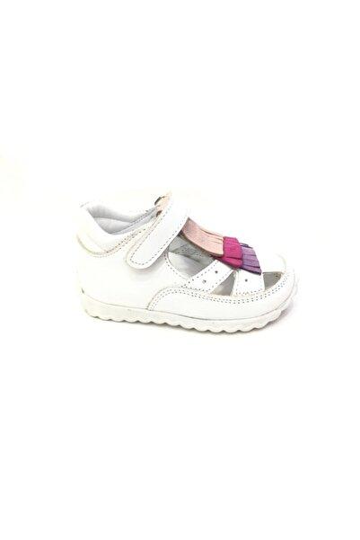 Perlina Kız Çocuk Beyaz Hakiki Deri Günlük Ayakkabı