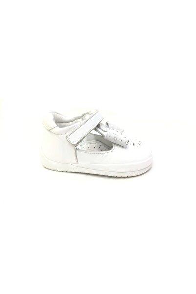 Toddler Kız Çocuk Beyaz Hakiki Deri Günlük Ayakkabı