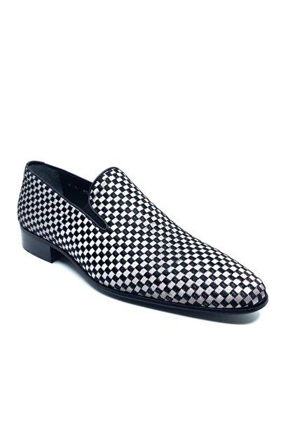 Fosco Nakışlı Gri Klasik Erkek Ayakkabı 1305