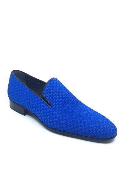 Fosco Nakışlı Mavi Klasik Erkek Ayakkabı 1305