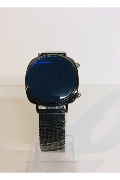 Mima Digital Hasır Kordonlu Unisex Siyah Saat