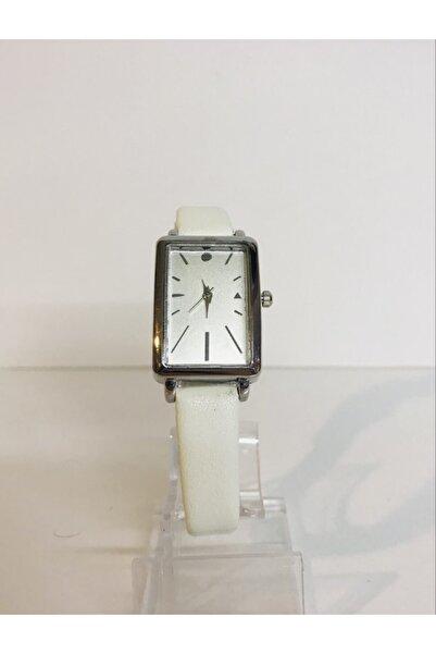 Mima Beyaz Deri Kordonlu Kadın Saati