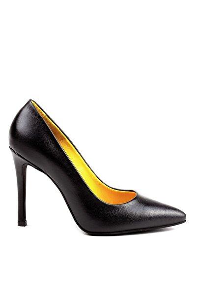Louis Cardy Kadın Siyah Venice Hakiki Deri Topuklu Ayakkabı