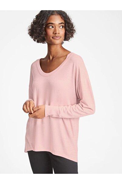 GAP Kadın Pembe Softspun Uzun Kollu T-shirt