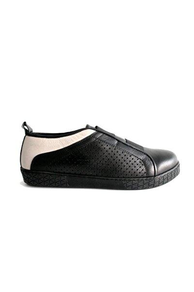 Beta Kadın Siyah Re Deri Casual Ayakkabı