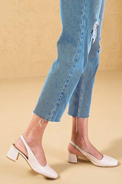 Louis Cardy Kadın Bej Hogun Hakiki Deri Ayakkabı