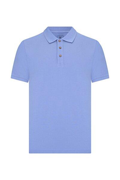 W Collection Erkek Mavi Polo Yaka T-Shırt