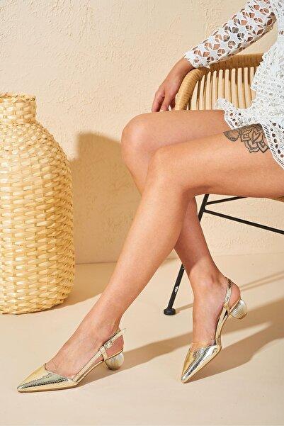 Louis Cardy Kadın Gold Lisa Dore Hakiki Deri Topuklu Sandalet