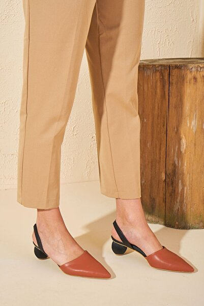 Louis Cardy Kadın Turuncu Groot Topuklu Ayakkabı