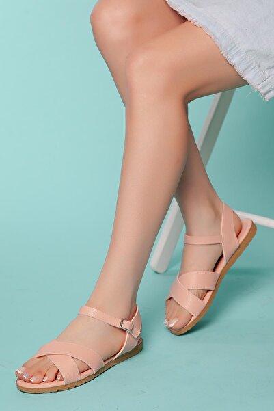 MUGGO Kadın Pembe Sandalet