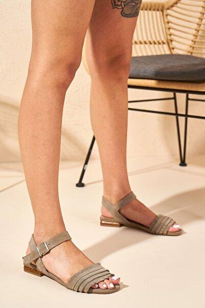 Louis Cardy Kadın Koyu Bej Emily  Hakiki Deri  Sandalet