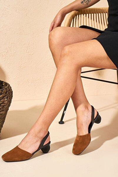Louis Cardy Kadın Taba Abbey Hakiki Deri Kadın Topuklu Ayakkabı