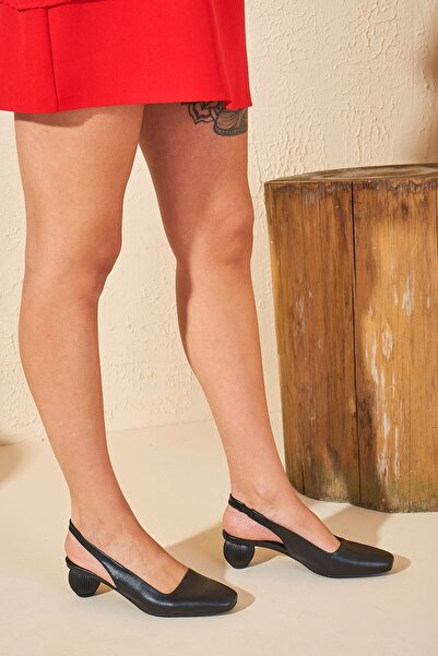 Louis Cardy Kadın Siyah Lady Hakiki Deri Ayakkabı