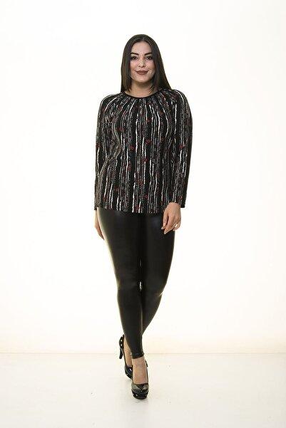 Modayız Kadın Siyah Esnek Bluz