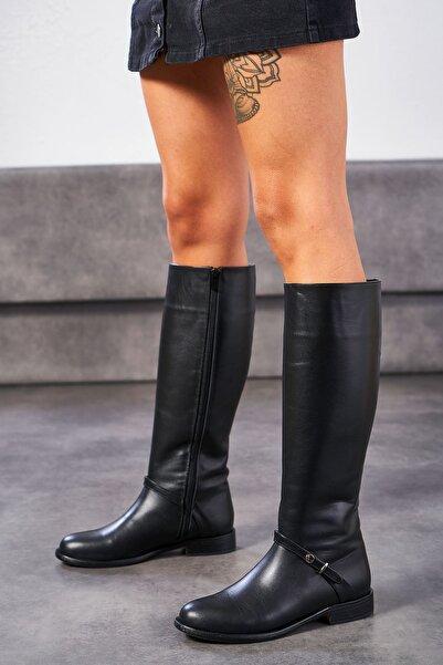 Louis Cardy Kadın Siyah Agave Hakiki Deri Çizme