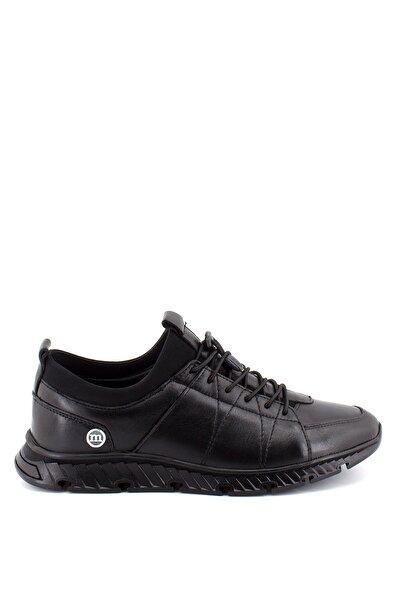 Mammamia Erkek Siyah Deri Günlük Ayakkabı