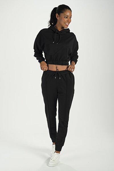 Runever Kadın Siyah Eşofman Takımı