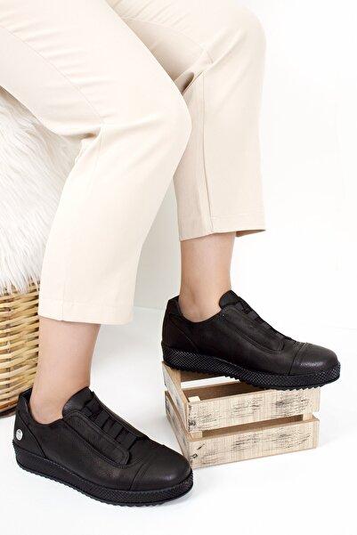Mammamia Kadın Siyah Deri Günlük Ayakkabı D20ka-785