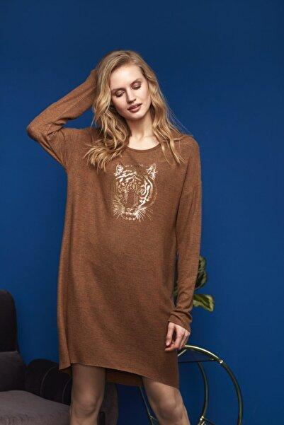 Penyemood Kadın Kahve Elbise 8624
