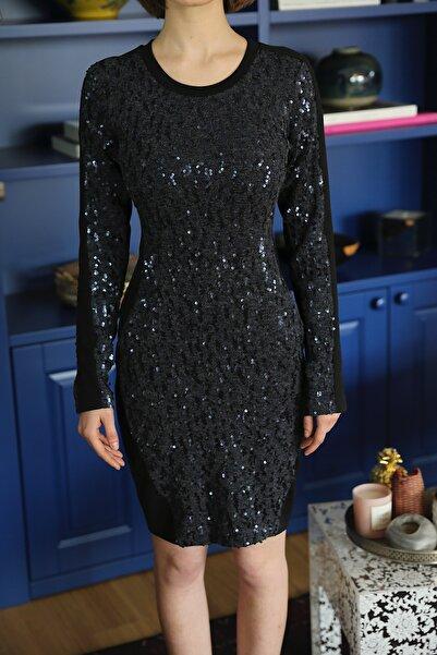 Ece Salıcı Kadın Pullu Elbise