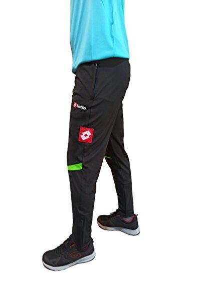 Lotto Unisex Siyah Yeşil Antrenman Spor Eşofman Altı K18r0712