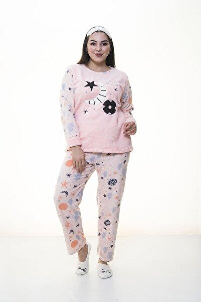 Moday Kadın Pembe  Polar Pembe Pijama Takımı 32c-1384