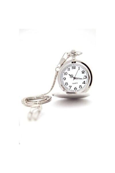 KMC Erkek Gümüş Renk Köstekli Cep Saati